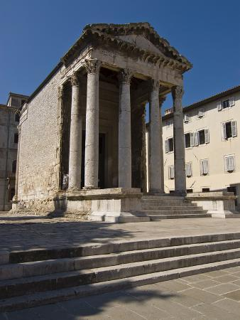 Temple of Rome and Augustus Built on the Forum During the Reign of Emperor Augustus, Pula, Croatia