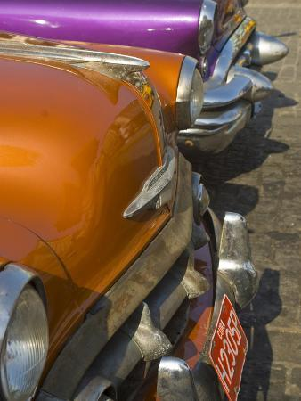 American Oldtimers on the Streets of Havana, Cuba, West Indies, Caribbean, Central America