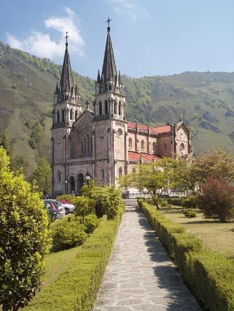 The Church at Covadonga, Asturias, Spain, Europe