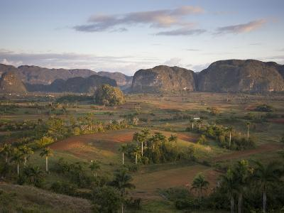 Vinales Valley From Grounds of Hotel Los Jasmines Showing Limestone Hills Known As Mogotes, Cuba