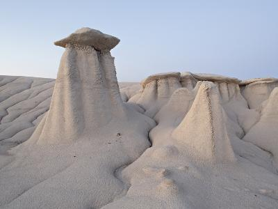 Hoodoos and Erosion Drainage, Bisti Wilderness, New Mexico, United States of America, North America