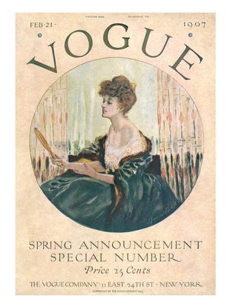 Vogue Cover - February 1907