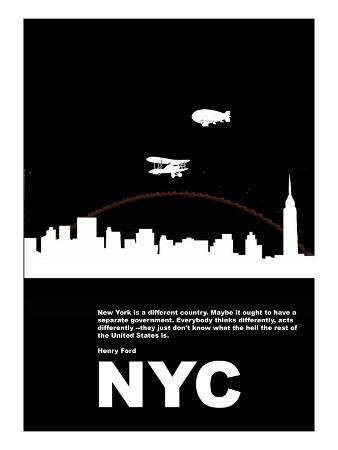 New York Night Poster