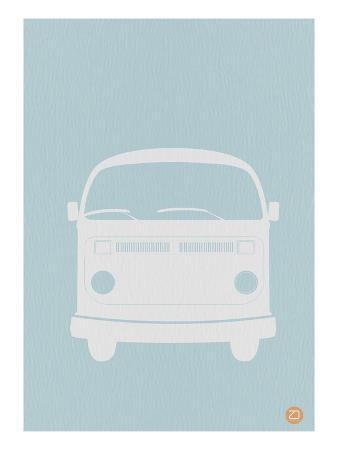 VW Bus Blue Poster