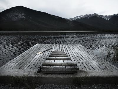 A Small Dock on Vermillion Lakes at Dusk