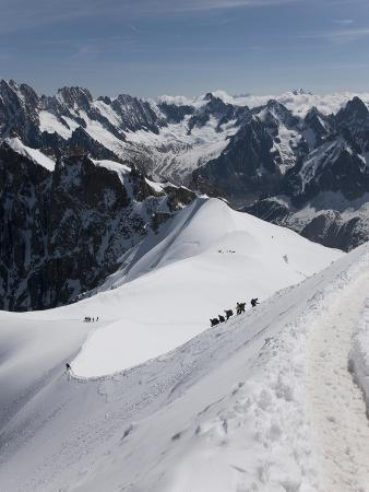 Aiguille Du Midi, View of the Mont Blanc Massif, Chamonix, Haute Savoie, French Alps, France, Europ