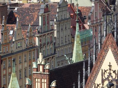 Old Town View from Marii Magdaleny Church, Wroclaw, Silesia, Poland, Europe