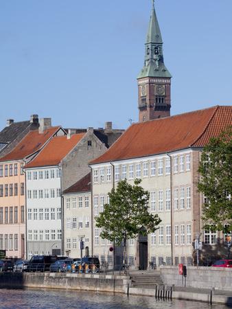 View Along Ved Stranden and Nikolaj Church, Copenhagen, Denmark, Scandinavia, Europe