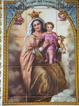 Virgen Del Carmen Tilework, Malaga, Andalucia, Spain, Europe