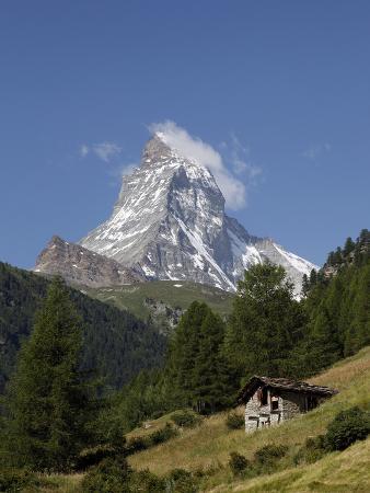 The Matterhorn Near Zermatt, Valais, Swiss Alps, Switzerland, Europe
