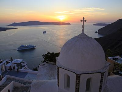 Fira, Santorini, Cyclades Islands, Greek Islands, Greece, Europe