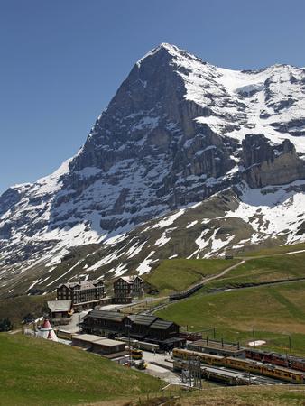 Kleine Scheidegg and Eiger Near Grindelwald, Bernese Oberland, Swiss Alps, Switzerland, Europe