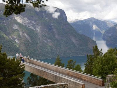 Viewpoint Stegastein Near Aurlandsvangen, Aurlandsfjorden, Sogn Og Fjordane, Norway, Scandinavia, E
