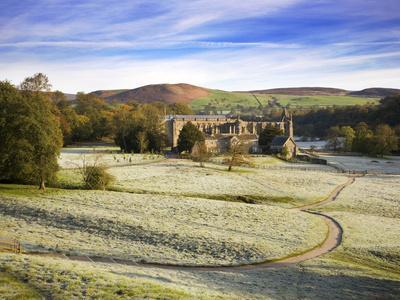 Frosty Morning at Bolton Priory Ruins (Bolton Abbey), Yorkshire Dales National Park, Yorkshire, Eng