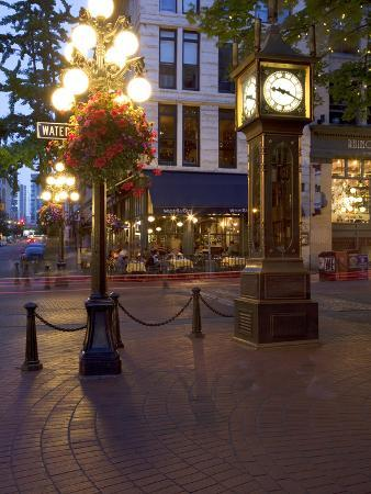 The Steam Clock, Water Street, Gastown, Vancouver, British Columbia, Canada, North America