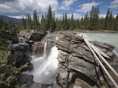 Athabasca Falls, Jasper National Park, UNESCO World Heritage Site, British Columbia, Rocky Mountain