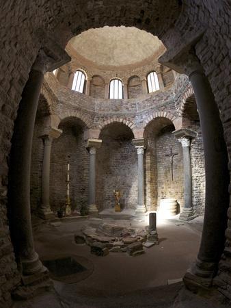 Paleochristian 5th Century Baptistery, Cathedral of St. Leonce of Frejus, Var, Provence, Cote D'Azu