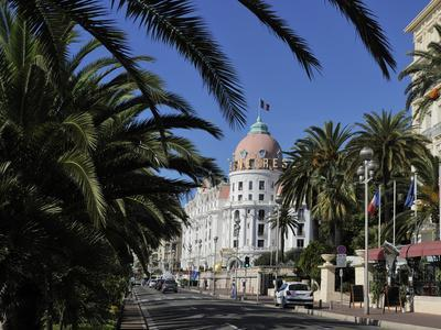 Hotels Lining Promenade Des Anglais, Nice, Alpes Maritimes, Provence, Cote D'Azur, French Riviera,