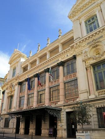 Facade of the Opera Theatre, Nice, Alpes Maritimes, Provence, Cote D'Azur, French Riviera, France,