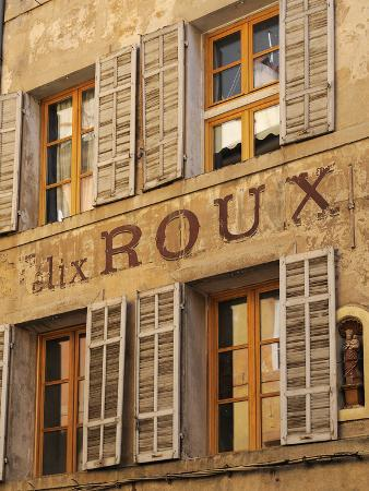 Old Advertising Sign on the Side of a Building, Aix-En-Provence, Bouches-Du-Rhone, Provence, France