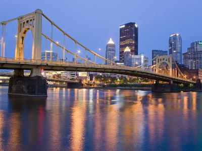 Andy Warhol Bridge (7th Street Bridge) over the Allegheny River, Pittsburgh, Pennsylvania, United S