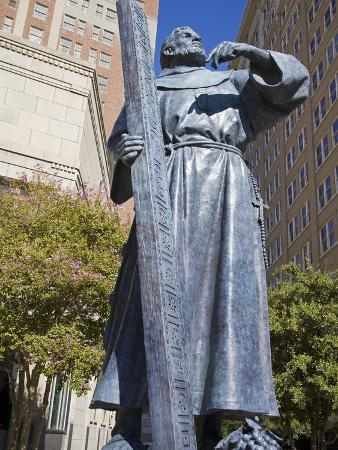 Fray Garcia Monument in Pioneer Plaza, El Paso, Texas, United States of America, North America