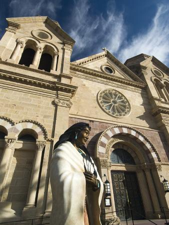 Statue of Kateri Tekakwitha, the Cathedral Basilica of St. Francis of Assisi, Santa Fe, New Mexico,
