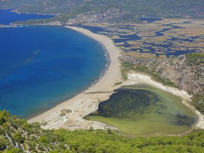 Aerial View of Dalyan, Dalaman, Anatolia, Turkey, Asia Minor, Eurasia