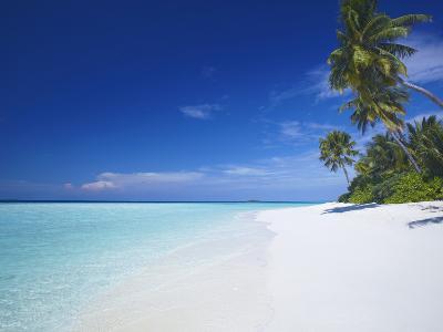 Tropical Beach and Lagoon, Maldives, Indian Ocean, Asia