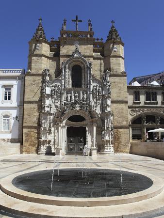 The Santa Cruz Church, with Manueline Facade, on the Praca 8 De Maio Square, Coimbra, Beira Litoral
