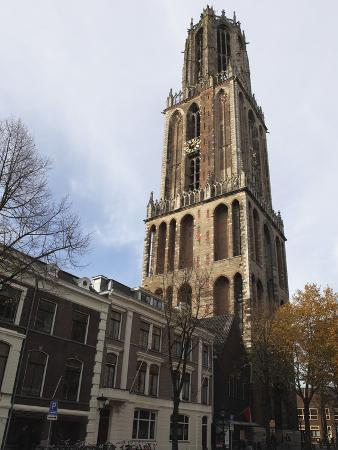 The Dom Tower, Built 1321 and 1382, the Tallest Dutch Church Tower at 112M (368Ft) in Utrecht, Utre
