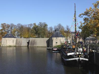 The Spinola Boat Is Docked in Front of the Spanish Gate (Spanjaardsgat) by the Harbour of Breda, No