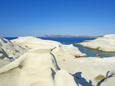 Sarakiniko Lunar Landscape, Sarakiniko Beach, Milos, Cyclades Islands, Greek Islands, Aegean Sea, G