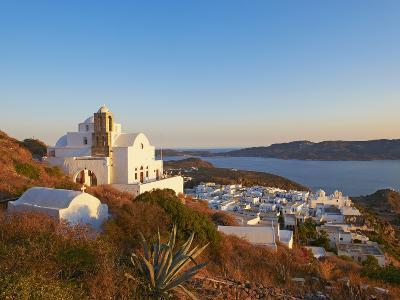 Kastro and the Church Ipapanti, Plaka, Old Village, Milos, Cyclades Islands, Greek Islands, Aegean