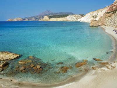 Turquoise Sea, Firiplaka Beach, Milos, Cyclades Islands, Greek Islands, Aegean Sea, Greece, Europe