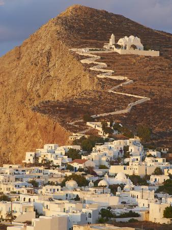 Panagia Kimissis Monastery, Kastro, the Chora Village, Folegandros, Cyclades Islands, Greek Islands