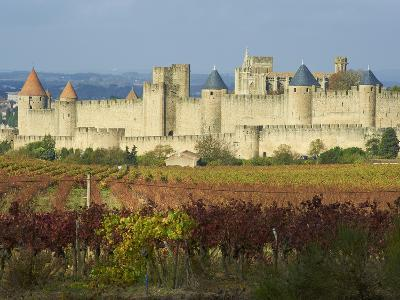 Medieval City of Carcassonne, UNESCO World Heritage Site, Aude, Languedoc-Roussillon, France, Europ