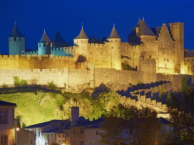 Medieval City of Carcassonne, UNESCO World Heritage Site, Aude, Languedoc-Roussillon, France, Europ