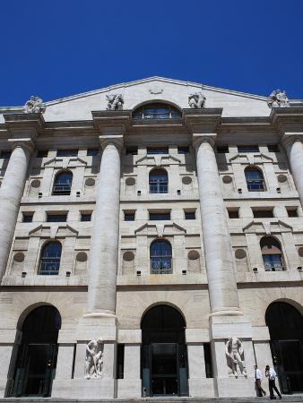 Stock Exchange Building, Milan, Lombardy, Italy, Europe