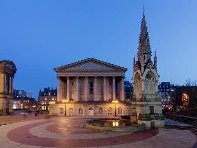 Chamberlain Square at Dusk, Birmingham, Midlands, England, United Kingdom, Europe