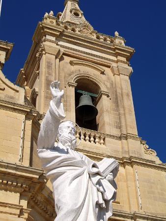Church at Gharb, Gozo, Malta, Mediterranean, Europe