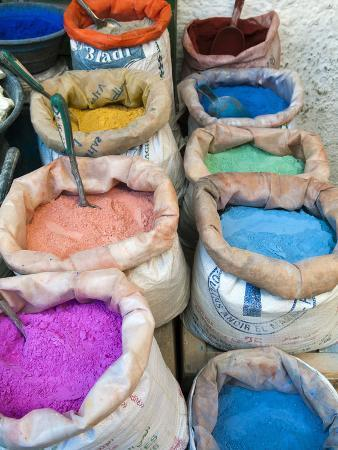 Pigments and Spices for Sale, Medina, Tetouan, UNESCO World Heritage Site, Morocco, North Africa, A