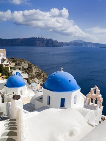 Greek Orthodox Church in Oia Village, Santorini Island, Cyclades, Greek Islands, Greece, Europe