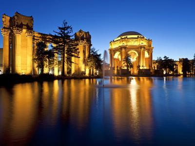 Palace of Fine Arts Illuminated at Night, San Francisco, California, United States of America, Nort