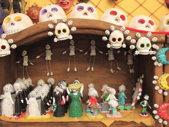 Day Of The Dead Folk Art Oaxaca City Mexico North America