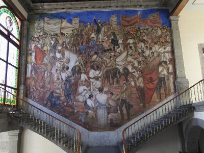 Mural, El Castillo De Chapultepec (Chapultepec Castle), Chapultepec Park, Chapultepec, Mexico City,