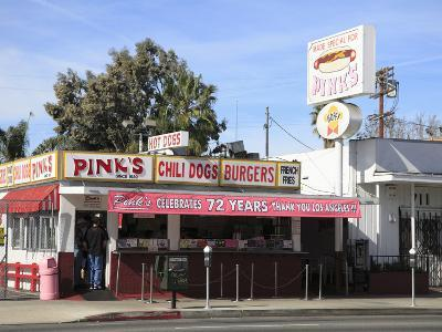 Pinks Hot Dogs, an La Institution, La Brea Boulevard, Hollywood, Los Angeles, California, United St