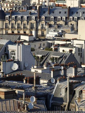Paris Rooftops, Paris, France, Europe