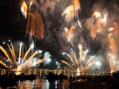 The Amazing Fireworks Display During the Night of Redentore Celebration in the Basin of St. Mark, V