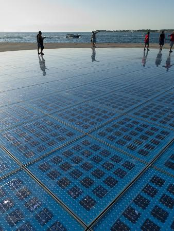 Pozdrav Zuncu (Sun Salutation) Monument by Architect Nikola Basic, Zadar, Zadar County, Dalmatia Re
